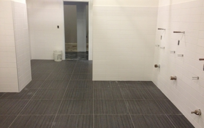 This image depicts a custom tile installation at NASA. This project was completed by Youngstown Tile & Terrazzo.