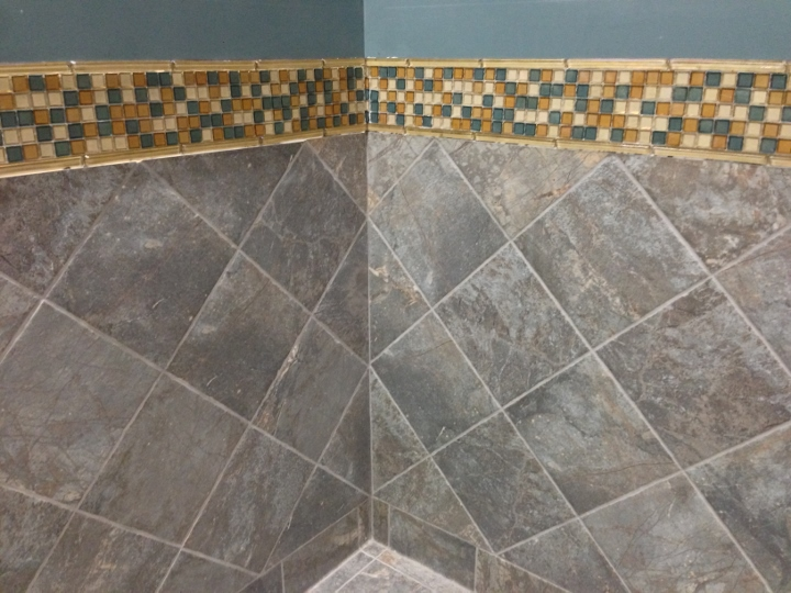 This image displays the tile installation at Northeastern Ohio Medical University. This commercial tile installation was completed by Youngstown Tile & Terrazzo.